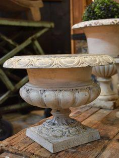 Antique French Medici urn - white