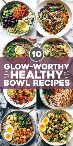 Eating Recipes Why does everything just taste better in a bowl? That's basically our entire food mantra. These bowls are some of our best - full of flavor, super satisfying, and packed with all the good and healthy things that will make you feel awesome. Healthy Meal Prep, Healthy Dinner Recipes, Healthy Vegetarian Lunch Ideas, Eat Clean Recipes, Super Food Recipes, Healthy Weight, Healthy Lunches, Healthy Breakfasts, Healthy Dinner For One