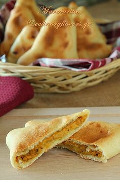 Marmarítes - Triangular pies, filled with a savory butternut squash puree