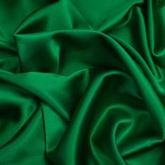 Kelly Green Silk Crepe Back Satin