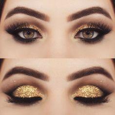 Gold MAKEUP - Maquiagem Dourada