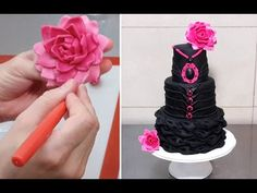 Black Widow Cake - Billowing Technique. How To by CakesStepbyStep - YouTube