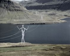 ARCHITECTS TURNED ICELAND'S ELECTRICITY PYLONS INTO GIANT MODERN STATUES