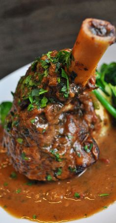 Our Mediterranean Braised Lamb Shank is begging to be paired with an exotic Tempranillo. We suggest a glass of Bodegas MUGA - Haro, La Rioja.