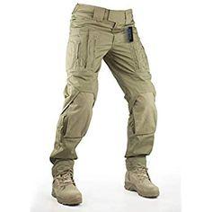 GooDoi Pantalones t/ácticos Militares Pantalones De Carga BDU Pantalones Airsoft Pantalones Multibolsillos Exteriores Pantalones con Rodilleras
