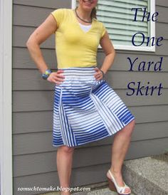 Behind the Seams Sewing: The One Yard Skirt Tutorial