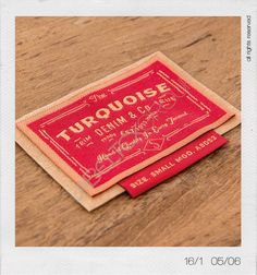 Collezione Indako 16/1 #labeltexgroup #label #labelling #etichette #denim #denimideas Label Design, Packaging Design, Logo Design, Fashion Tag, Denim Fashion, Clothing Store Design, Textiles, Leather Label, Clothing Labels