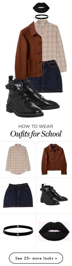 """""""fallforme"""" by zzzasha on Polyvore featuring Current/Elliott, American Apparel and Lynn Ban"""