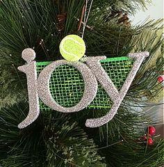 joy tennis ornament