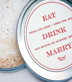 Margarita salt favors. A must for Mexico weddings!