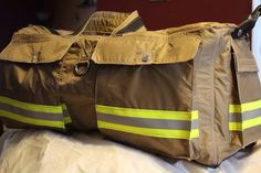 Firefighter Gear Utility Duffel Bag by NickieOriginals on Etsy