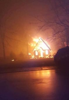 Church burning in Gatlinburg 11-2016,in terrible wildfire's !!!