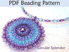 Circular Brick Stitch Pendant Beading Pattern - Beading Daily