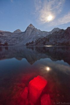 Light Painting at Rae Lakes;Rae Lakes is a series of lakes in the Sierra Nevada, located in Kings Canyon National Park, eastern Fresno County, California.