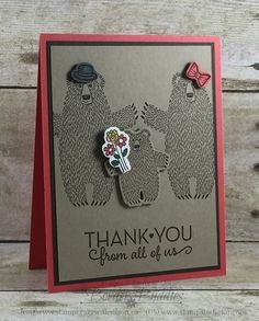 Stampin' Up! Bear Hugs Birthday and Thank You Cards