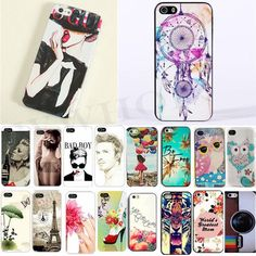 Cute Novel Style Painted Various Pattern Back Skin Case Cover For iPhone 4 4S