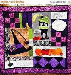 SPRING SALE Halloween Wallhanging Quilt