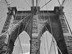 A brief history of bridges in North America with a special nod to photographic processes that showcase them in their best light. History Of Bridges, Brooklyn Bridge, New York City, North America, Track, New York, Runway, Truck, Running