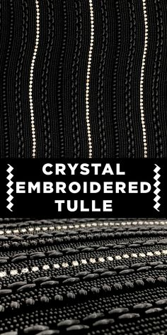 Pearls and Crystals Embroidered on Tulle Textile Pattern Design, Textile Patterns, Textile Prints, Print Patterns, Fabric Board, B And J Fabrics, Kinds Of Fabric, Fabric Names, Fabric Manipulation