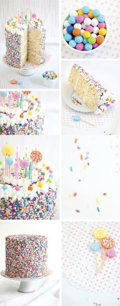 Rice Krispie Treat Sprinkle Cake - Sprinkle Bakes is Four! Rice Crispy Cake, Rice Krispy Treats Recipe, Rice Krispie Treats, Rice Krispies, Rainbow Rice, Rainbow Sprinkles, Birthday Desserts, Birthday Ideas, Homemade Buttercream Frosting