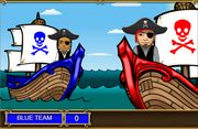 Add and subtract pirate game