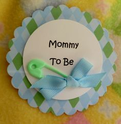 Baby Shower Corsage with Diaper Pin and by mollbelldesigns on Etsy, $3.75