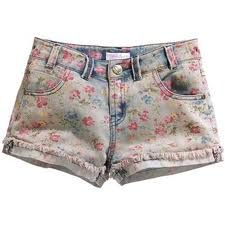 Faded floral print shorts