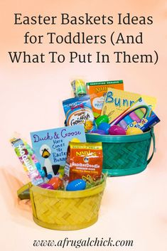 101 easter basket ideas for babies and toddlers that arent candy easter baskets for toddlers and what to put in them check out these negle Image collections