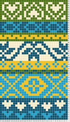 mooie kleur combinatie voor mochila tas Banded inspiration for California fair isle design Tapestry Crochet Patterns, Fair Isle Knitting Patterns, Knitting Charts, Loom Patterns, Knitting Stitches, Knitting Designs, Stitch Patterns, Motif Fair Isle, Fair Isle Chart