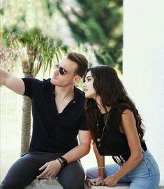 Turkish Beauty, Turkish Fashion, Deutsch Language, Hayat And Murat, Hande Ercel, 3 In One, Bollywood Actors, Cute Couples, Romantic