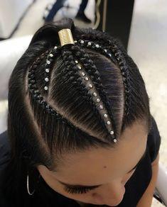 Pin by Josmarys on Hair Cool Braid Hairstyles, Baddie Hairstyles, Teen Hairstyles, Pretty Hairstyles, Flat Twist Hairstyles, Cool Hair Designs, Natural Hair Styles, Long Hair Styles, Aesthetic Hair