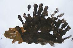 egel van handen.....weer eens wat anders dan een spin van handjes :-)