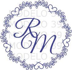 Monograma Brasão Casamento Arte Digital