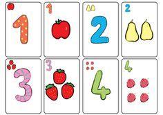 Des cartes de jeu à imprimer : pour apprendre à reconnaître les nombres- Pour associer quantité et écriture chiffrée. Sudoku, Kindergarten, Math Numbers, Math Activities, Preschool, Education, Montessori, Santa, Diy