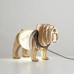 Decorative Bulldog Table Lamp
