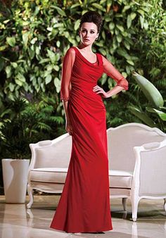 Jade Couture K168004 Red Mother Of The Bride Dress