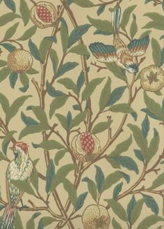 Bird and Pomegranate Wallpaper from Morris and Co . Used this in my kitchen together with matching fabric. Looked fabulous..