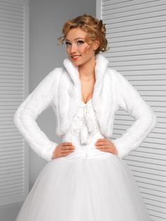 jacket material on sale at reasonable prices, buy Women's Top Wedding Faux Fur Mink Bolero Bridal Long Sleeved Jacket from mobile site on Aliexpress Now! Wedding Coat, Wedding Jacket, Blazers, Bridesmaid Shawl, Bridesmaid Dresses, Bridal Gowns, Wedding Gowns, Winter Gowns, Gown With Jacket