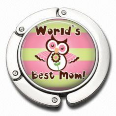 Folding Purse Hanger  World's Best Mom  Mother's by AGiftToLove