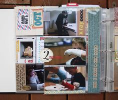 """Love the additional inside sleeve added here with the vertical 12"""" journaling strip"""