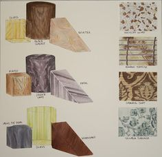 Material Simulation - Markers & Ink -Brittany Baur Designs: Interior Design Work