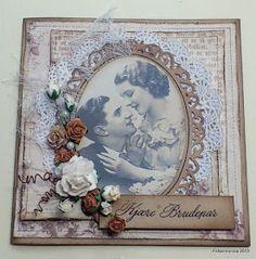 Snart sommer - og bryllupstid :-) I dag er det tid for ny utfordring hos Vintageutfordringen og denne gangen vil vi se bryllupskort....