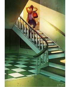 illustration of girl living alone & illustration girl alone - illustration girl alone home - illustration art girl alone - illustration of girl living alone Illustration Mode, Digital Illustration, Alone Art, Living Alone, Anime Art Girl, Cartoon Art, Cute Drawings, Art Sketches, Cute Art