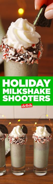 Tag your fun cousins who will try these Holiday Milkshake Shooters with you. Get the recipe from Delish.com.