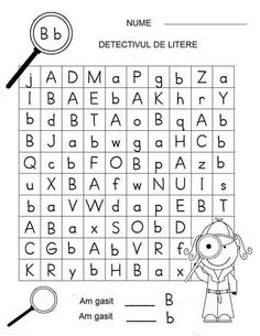 Letter Detectives Worksheets Aa to Zz Letter Worksheets, Kindergarten Worksheets, Worksheets For Kids, Games For Kids, Activities For Kids, Preschool At Home, Kids Education, Kids Learning, Detective
