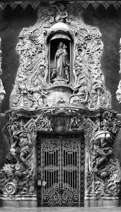 The ornate door of the Palau del Marquès de Dos Aguas in Valencia, Spain