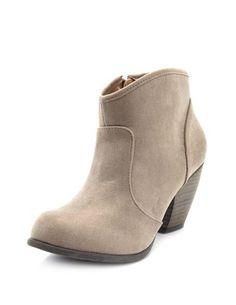 Low-Heel Sueded Western Boot: Charlotte Russe