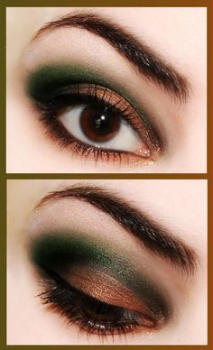 Green and Brown.. love this color (: