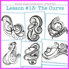 #13 Think & Design Tutorial: The Curve. | The secrets of how to create dozens of sculptural designs for pins, brooches and pendants. | JewelryLessons.com