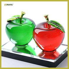 1PC Longming Home Car Glass Apple Perfume Bottle parfum voiture Fengshui Air Freshener Perfumes Bottles Gift For Home LH 002
